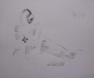 Apunte de desnudo 1 (naked body)   Guillermo Coll