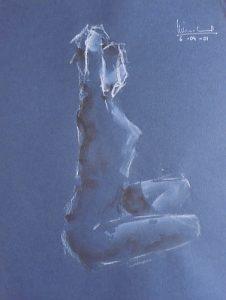 Apunte de desnudo 3 (naked body) | Guillermo Coll