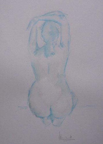 Apunte de desnudo 8 (naked body) | Guillermo Coll