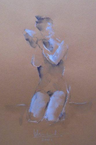 Apunte de desnudo 9 (naked body) | Guillermo Coll