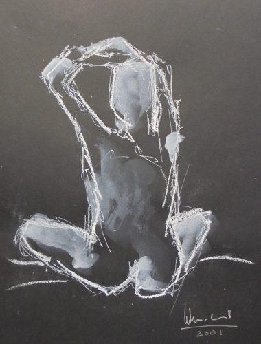 Apunte de desnudo 10 (naked body) | Guillermo Coll