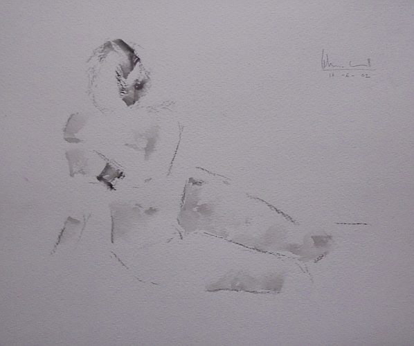 Apunte de desnudo 1 (naked body) | Guillermo Coll
