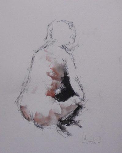 Apunte de desnudo 2 (naked body) | Guillermo Coll