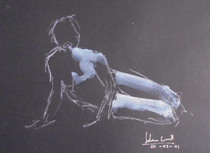 Apunte de desnudo 4 (naked body) | Guillermo Coll