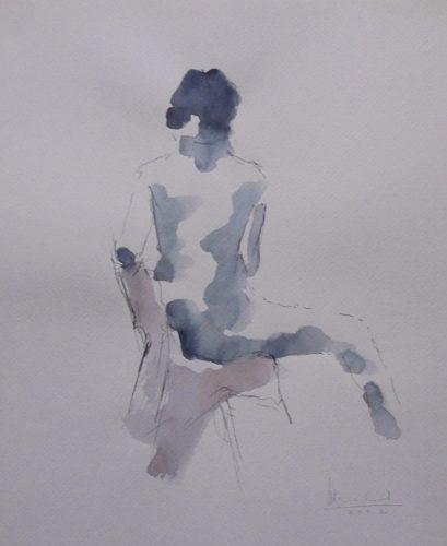 Apunte de desnudo 6 (naked body) | Guillermo Coll